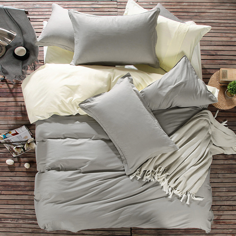 100Cotton Duvet CoversQueen in Grey and Beige Color