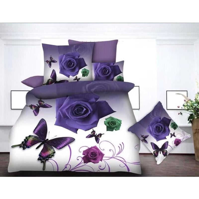 3D Rose Duvet Cover Floral Print China Manufacture