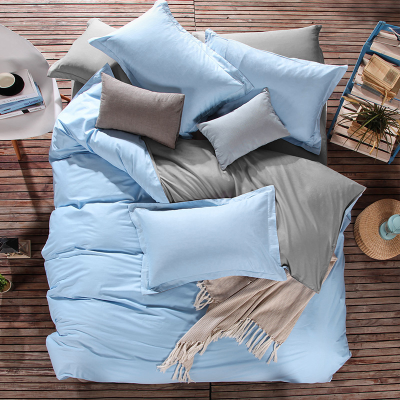 PureCotton Duvet CoversUK in Solid Light Blue Color Best Selling Design