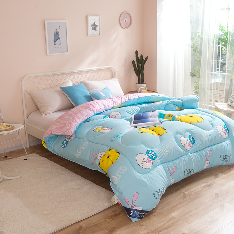 Blanket Quilt Comforter , Printed Style Polyester Fabric and Filling , China Wholesale