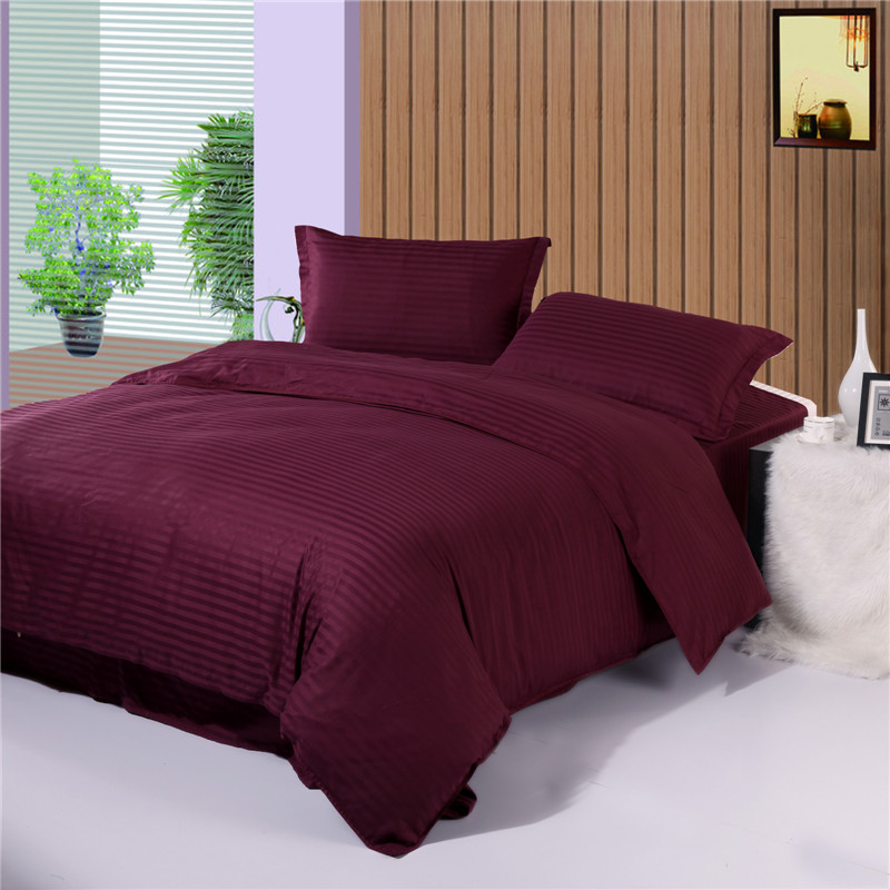 Woven Stripe Duvet Cover, Hotel Bedding Cheap , China Manufacture