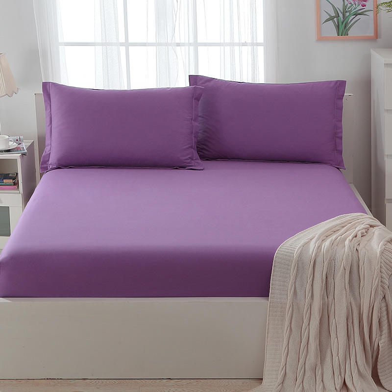 Bedroom Sheets for Sale with Pillow , Purple Color Bed in A Bag