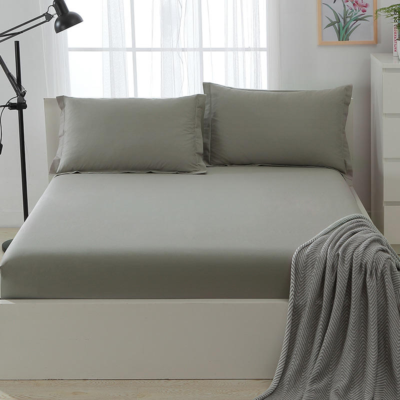 Bed Sheet UK Best Selling Cotton Bedding Grey Color From China Textile Factory
