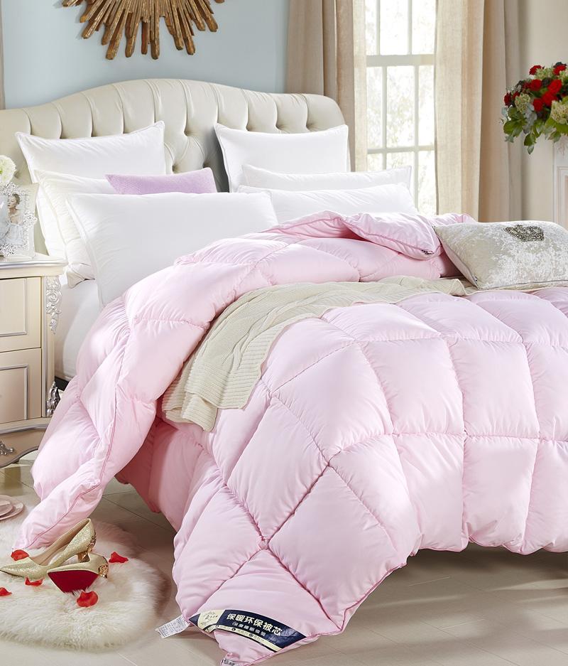 Pink Duvet Insert , Plain color Microfiber Shell Fiberfill , China Manufacture