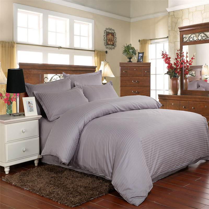 Hotel Bedding for Home, 100 Cotton Jacquard Stripes , Cheap Price