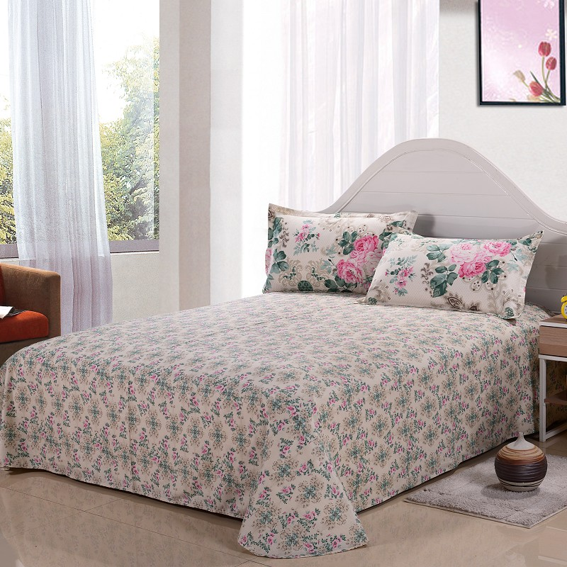 Cotton Bedding Sheet Set On Sale in Printed Pattern Cheap Cost