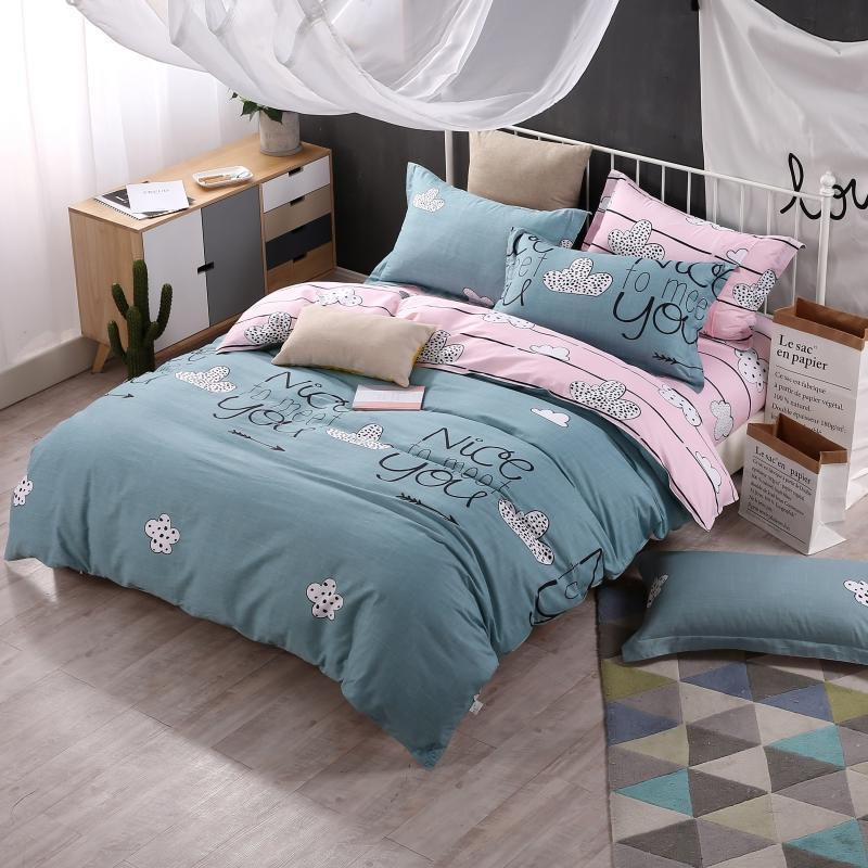 Cotton Duvet Covers Bedding Sets in Printed Pattern