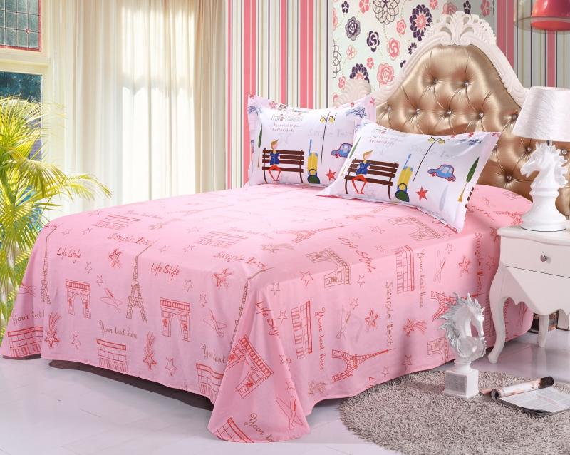 Cheap Cotton Bed Sheet Sets in Printing Pattern