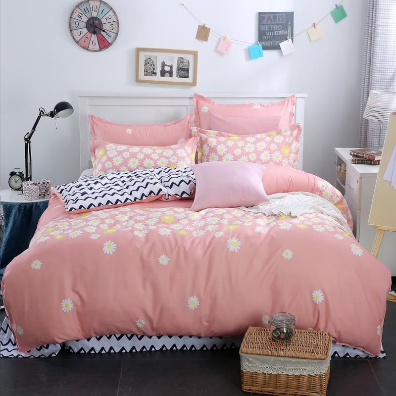 Floral Duvet Covers in Printed Microfiber Polyester