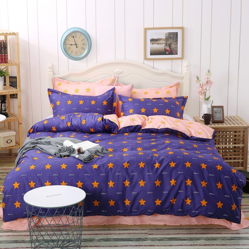 Polyester Star Twin Duvet Covers Printed Pattern