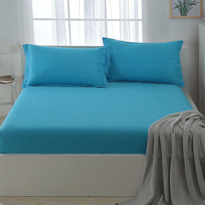 Cotton Sheet, Blue Color Low Cost Bed Sheets , Chinese Factory