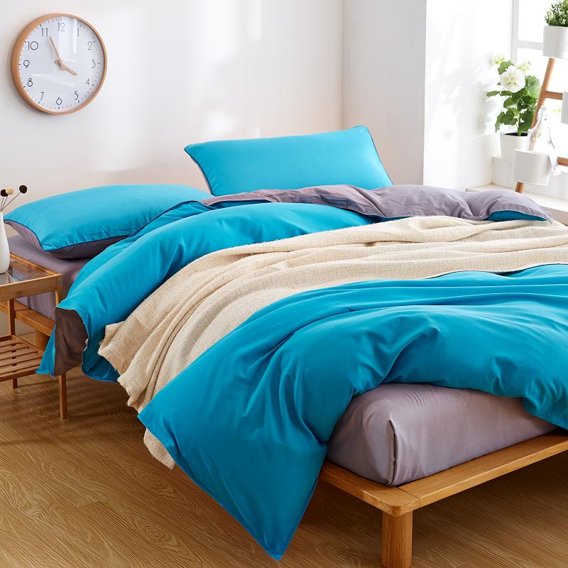 Duvet Covers in Solid Colors Inexpensive Microfiber Bedding Set