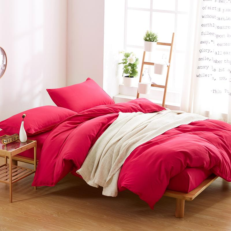 Solid Color Duvet Cover ,Twin Full Queen King Size , with 2 Pillow Shams