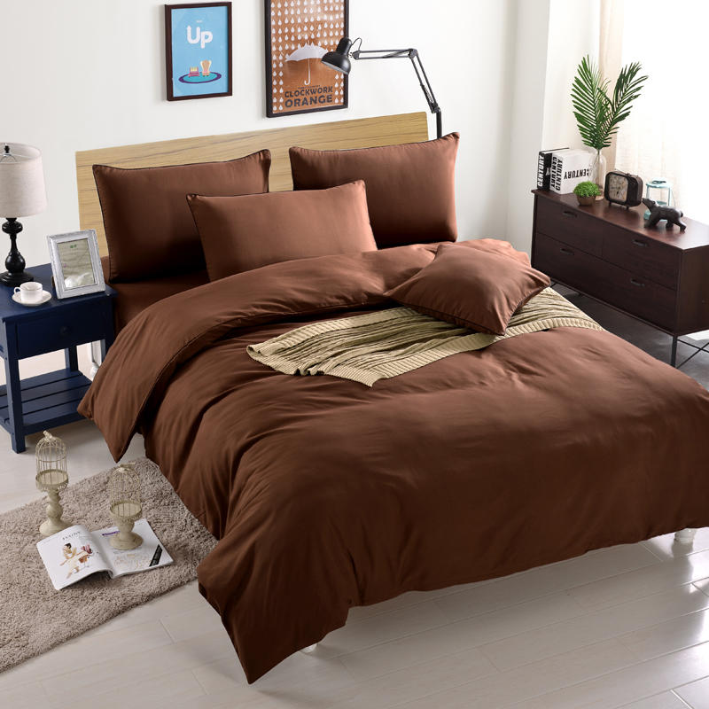 Solid Colored Duvet Covers, Cheap Microfiber Bedding Set from China Factory