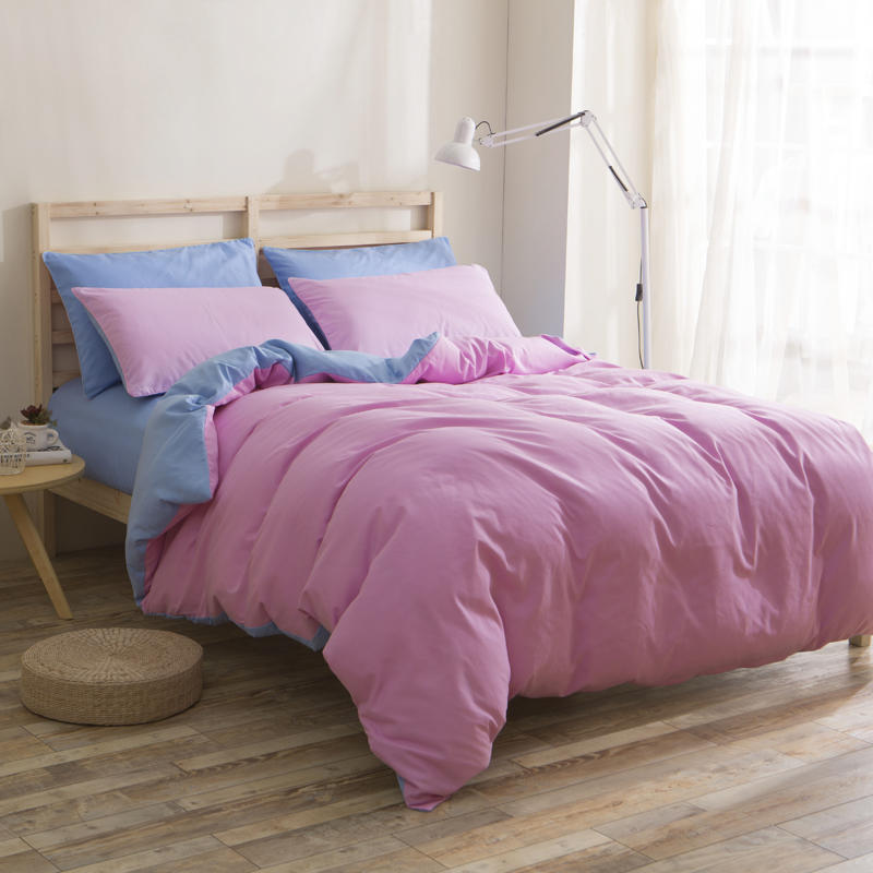 Solid Pink Twin Duvet Cover ,Cheap China Microfiber Home Bedding  Manufacture