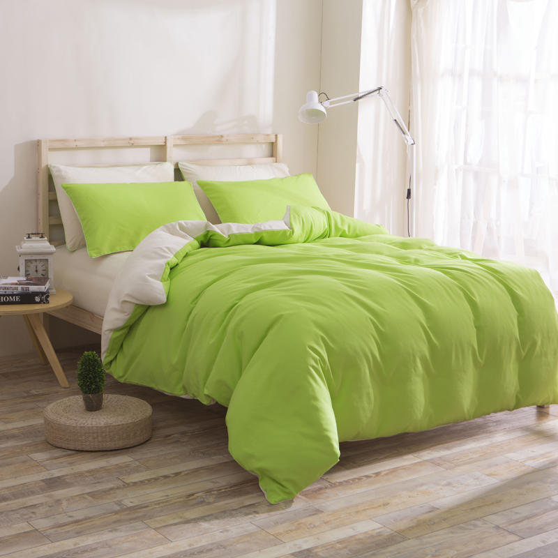 Solid Green Duvet Cover ,Cheap Microfiber Home Textile ,China Exporter