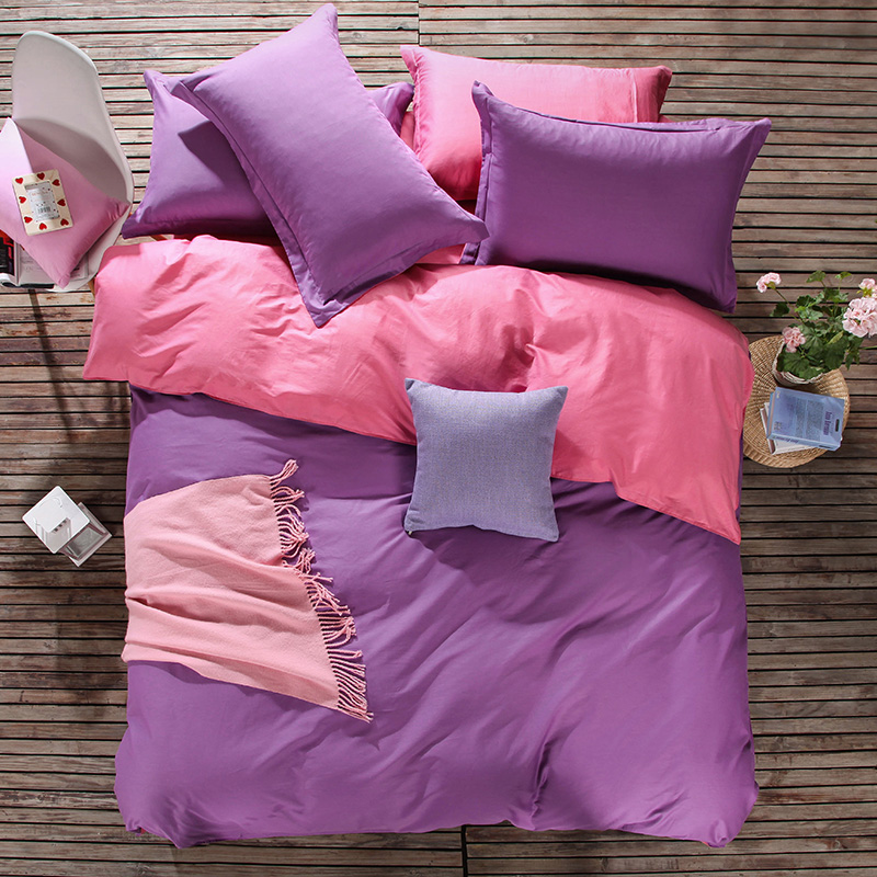 100Cotton Duvet CoversSingle in Purple Color Bulk Wholesale